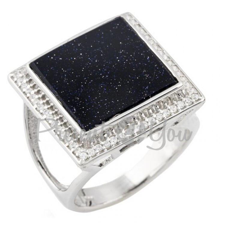 Серебряное кольцо с авантюрином -6,88 г
