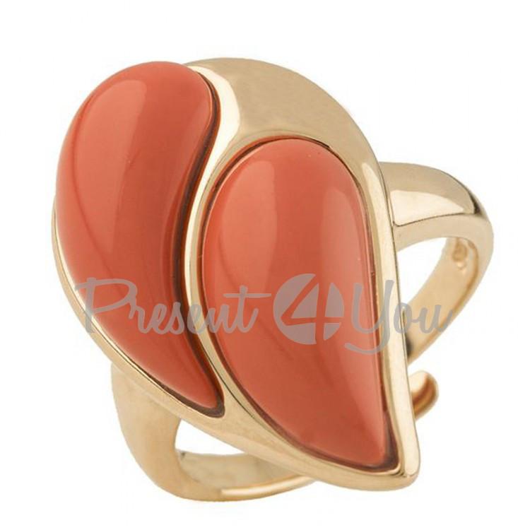 Серебряное кольцо Коралл - 7, 39 г