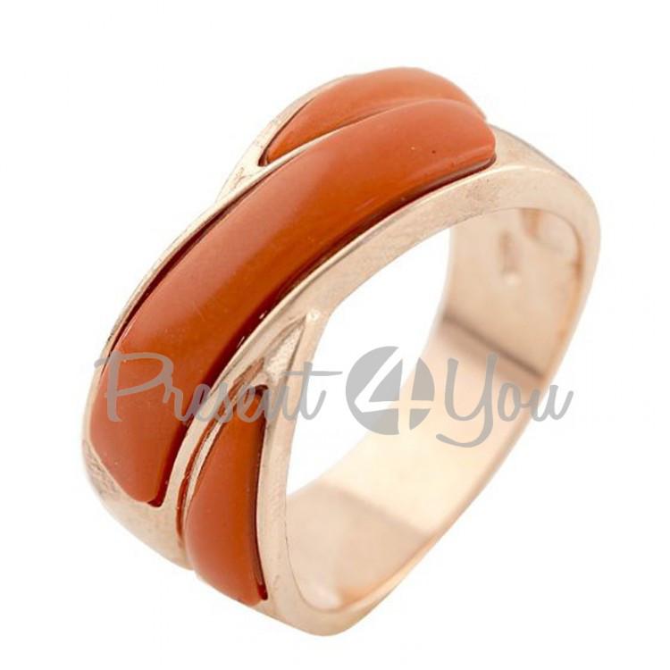 Серебряное кольцо Коралл - 5,75 г