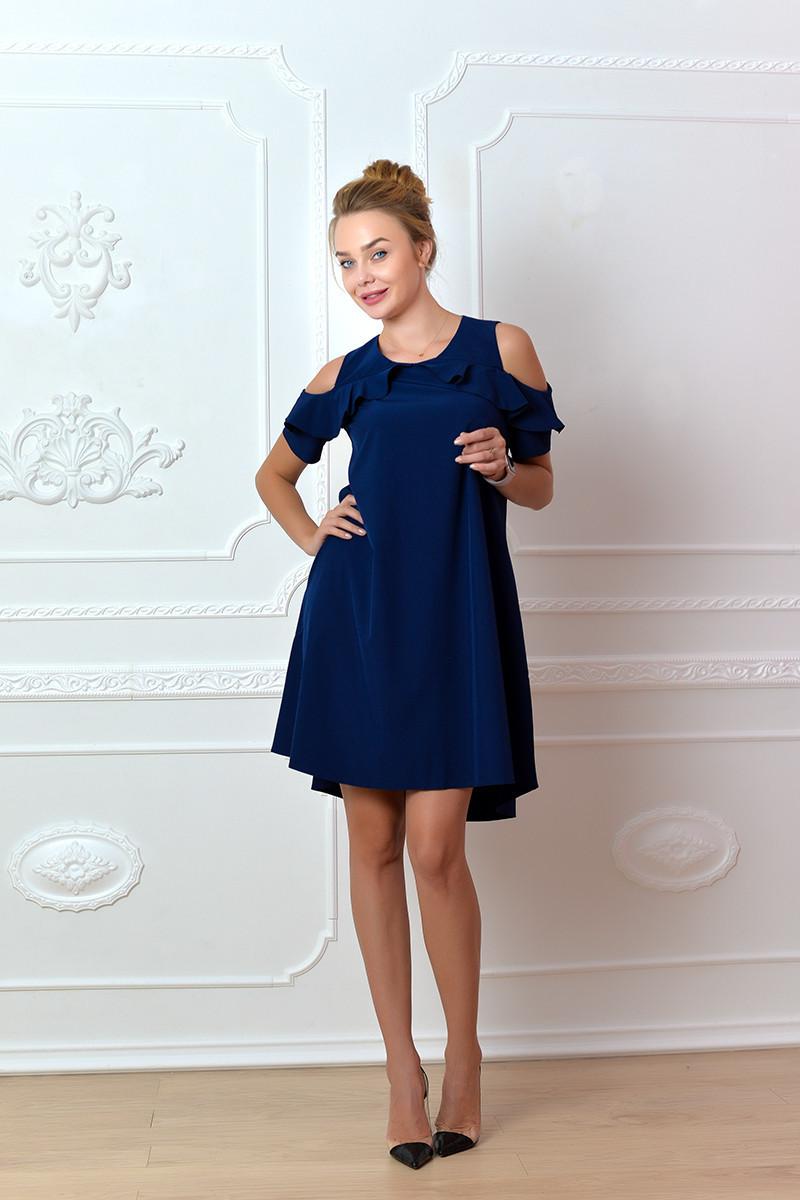 Платье  арт. 785 синее