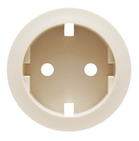 Лицевая панель - Программа Celiane - розетка 2К+З немецкого стандарта Кат. № 0 671 53/61 - слоновая кость