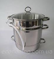 Соковарка Украиночка 10 литров (нержавеющая сталь)