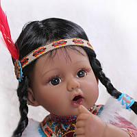 Кукла реборн Изабель, мягконабивная 40 см, ручная работа