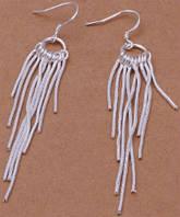 Серьги Tiffany (TF51). Покрытие серебром 925 - ОПТ