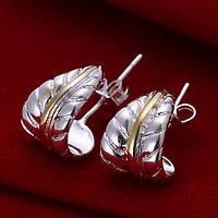 Серьги Tiffany (TF61). Покрытие серебром 925 - ОПТ