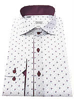 Рубашка мужская приталенная в принт №S 55.10 SF, фото 1