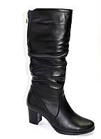 Комфортные сапожки  на литом каблуке из натуральной кожи., фото 1