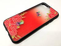 Чехол для iPhone 7 Remax Cover Glamour Series цветы красный