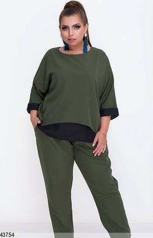 Женский брючный костюм демисезонный размеры: 50-52, 54-56, фото 2