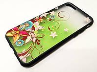 Чехол для iPhone 7 Remax Cover Glamour Series цветы зеленый