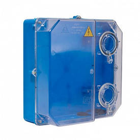 Коробка під 3-ф ліч. КДЕ-У (їв. ліч) ударостійка (синя)