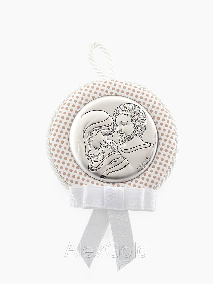 Серебряная икона детская Святое Семейство