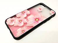 Чехол для iPhone 7 Remax Cover Glamour Series цветы розовый 1