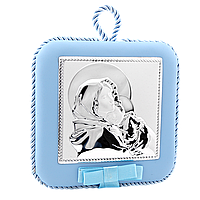 Серебряная икона Мария с младенцем