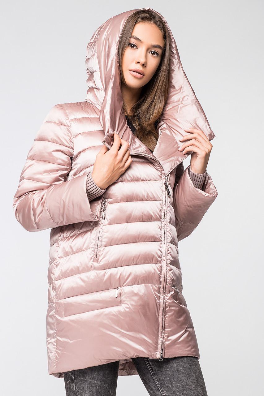 Модная и теплая женская курточка BTF 1818 (розовая)