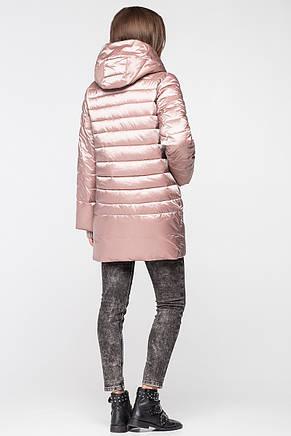 Модная и теплая женская курточка BTF 1818 (розовая), фото 2
