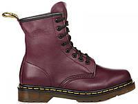 Женские ботинки Dr. Martens 1460 Purple Smooth Доктор Мартинс фиолетовые