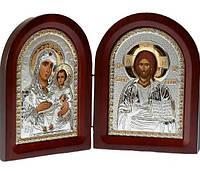 Складень диптих с Богородицей и Спасителем