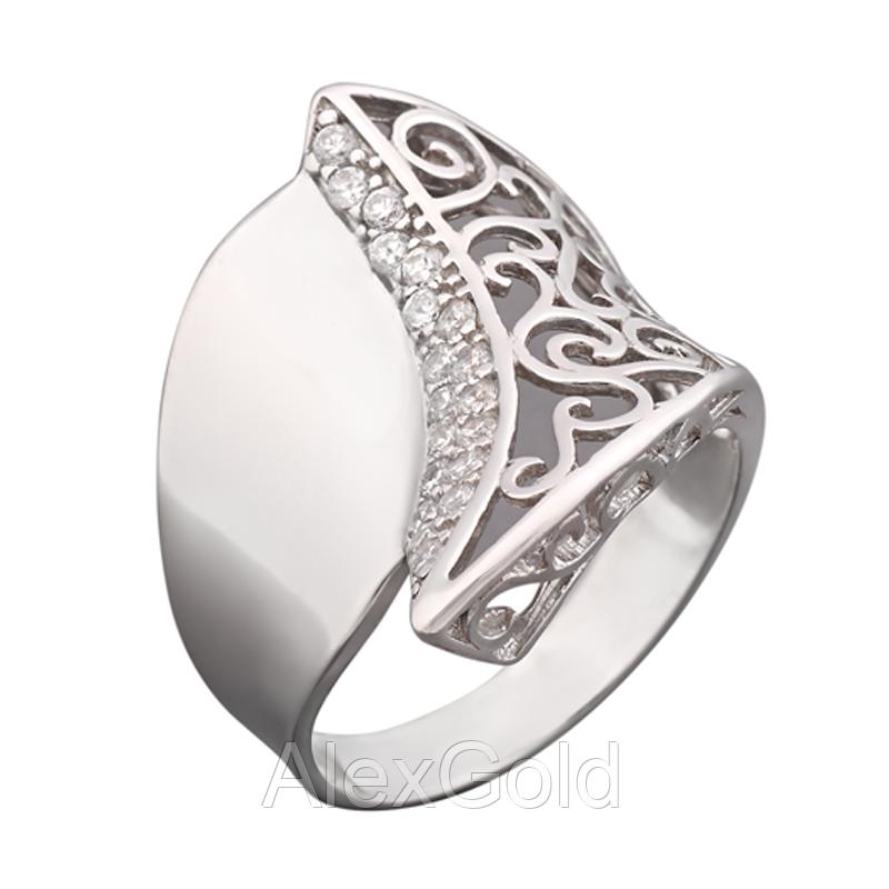 Серебряное кольцо широкое с орнаментом