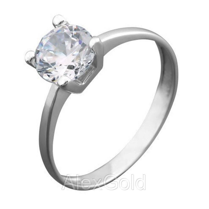 Серебряное кольцо под один камень