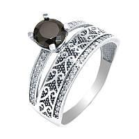 Серебряное кольцо двойное, фото 1
