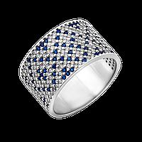 Серебряное кольцо Орнамент широкое, фото 1