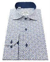 Рубашка мужская полуприталенная в принт №S 55.9 RC, фото 1