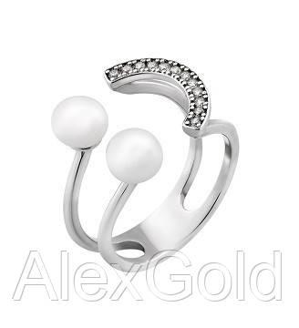 Серебряное кольцо с жемчужинами