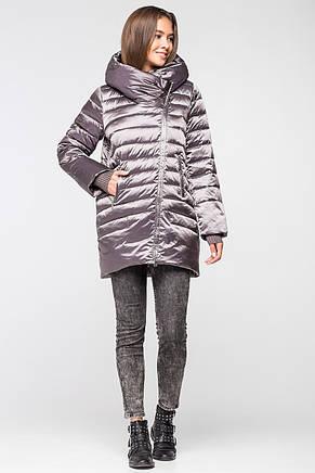 Модная и теплая женская курточка BTF 1818 (цвет кофе), фото 2