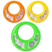 Бубен 3368 (240шт) свет (цветной), 3 цвета, в кульке, 15,5-15,5-2см