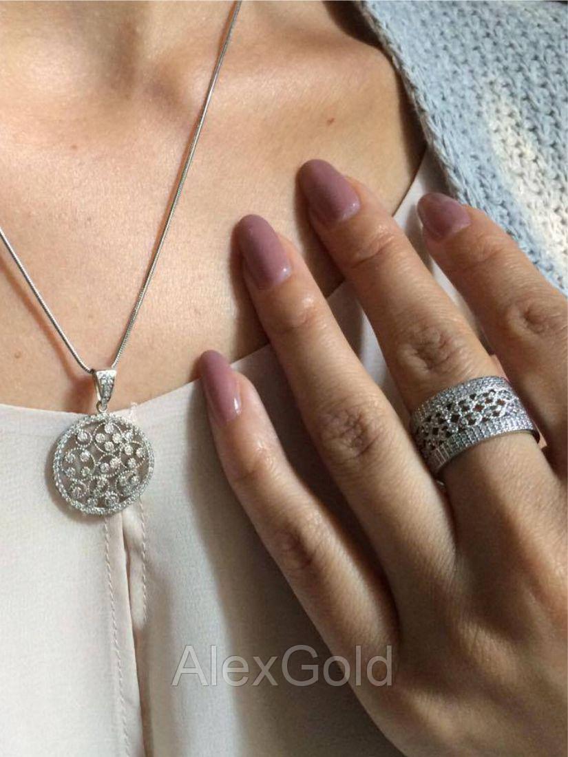 Серебряное кольцо широкое