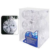8723 Елочные шарики прозрачные 6см 12шт/кор (60кор)