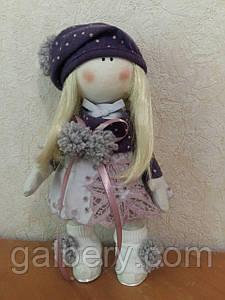 Дизайнерская текстильная кукла Лилу, ручной работы
