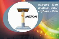 Когтеточка на квадратной подставке с платформой (беж.+чёрн.) джут (30x35x57) КРД/0005-12
