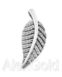 Кулон серебряный Листик