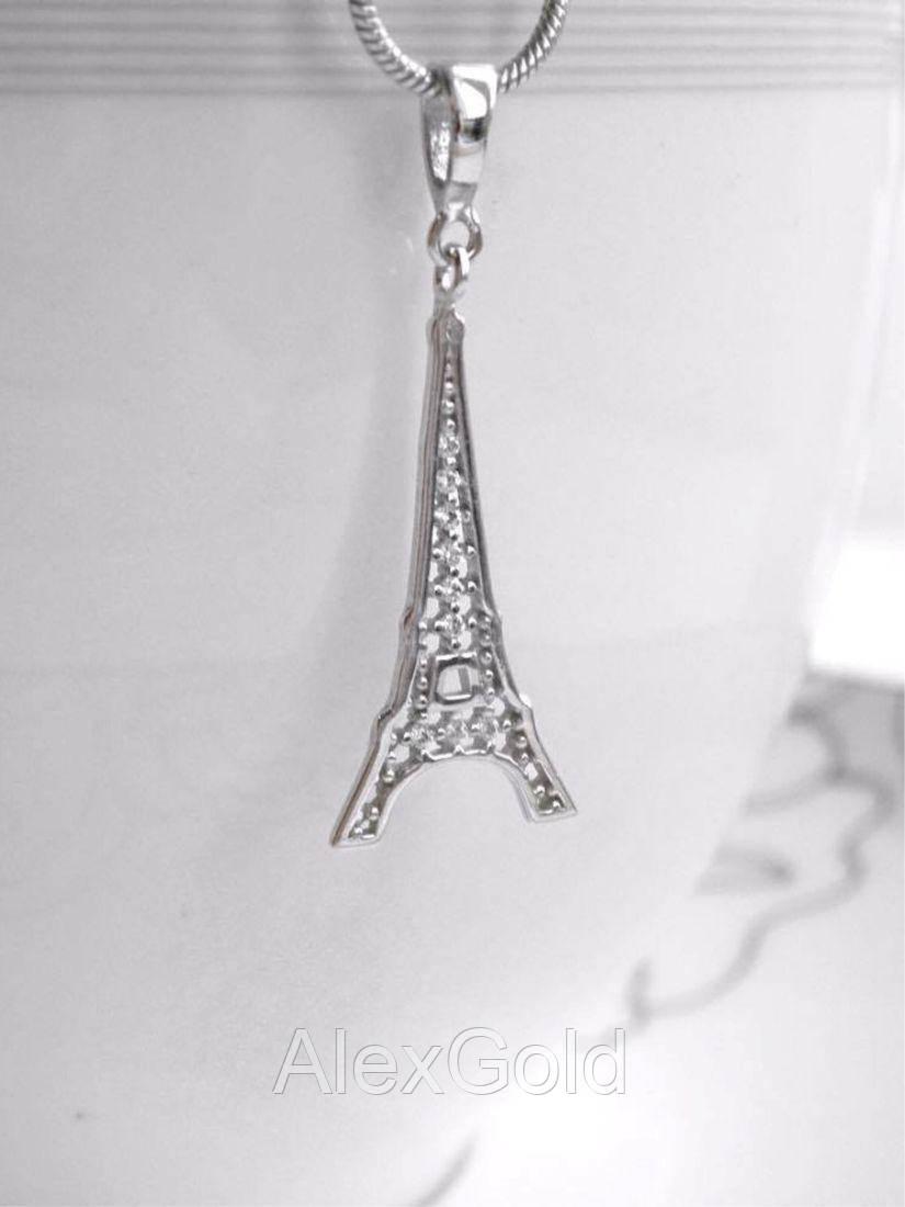 Кулон серебряный Эйфелева Башня