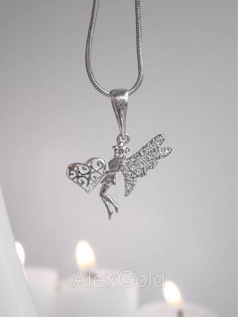 Кулон серебряный Фея