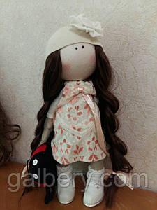 Дизайнерская текстильная кукла Кира, ручной работы