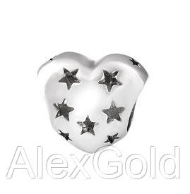 Шарм серебряный Сердце