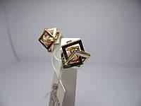 Золотые женские сережки. Вес 6,7 г.
