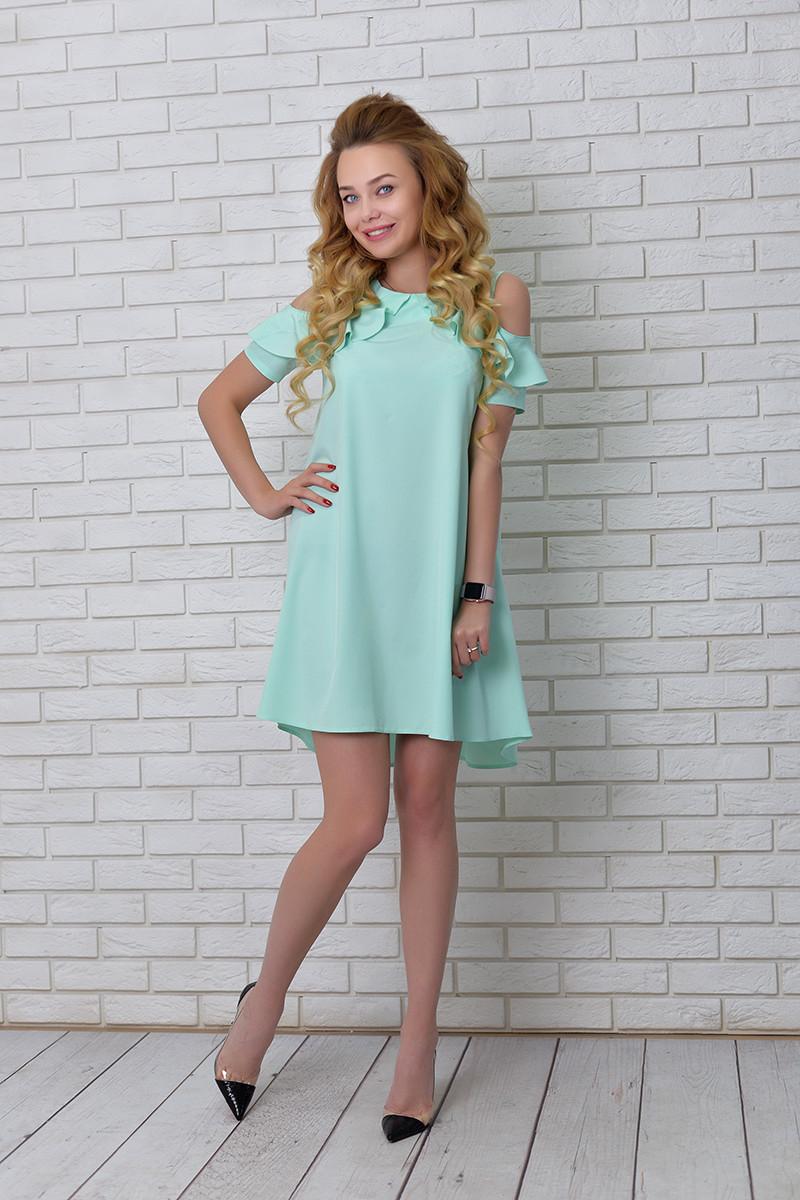 Платье  арт. 785 ментоловое