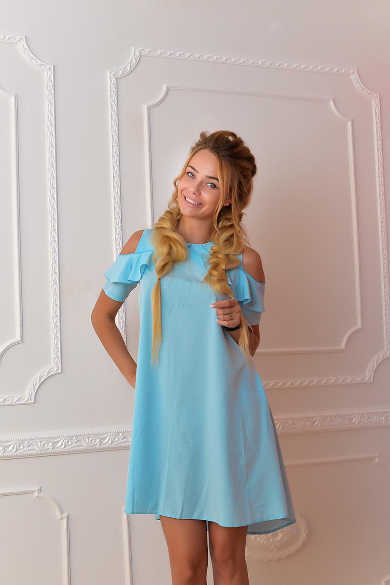 Платье  арт. 785 голубое
