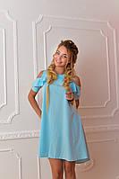Платье  арт. 785 голубое, фото 1