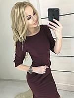 Платье женское 42-46р цвет бордо