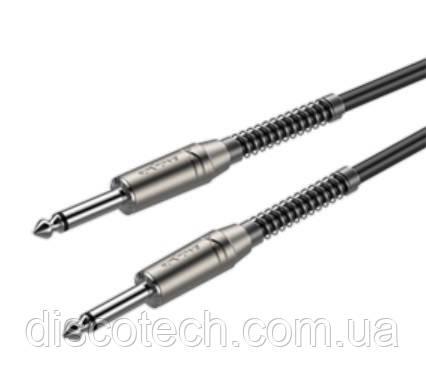 Готовый инструментальный кабель Roxtone SGJJ100L6, 1x0.22 кв.мм, вн.диаметр 6 мм, 6 м