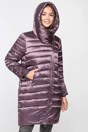 Женская зимняя куртка BTF 1828 на изософте сиреневого цвета (берри), фото 2
