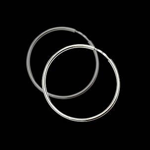 Серебряные серьги-кольца (Конго), d-80мм, фото 2