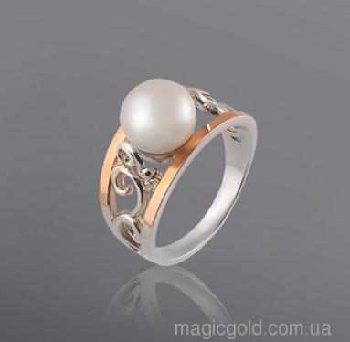 Серебряное кольцо Жемчужина