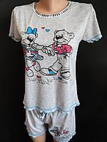 Молодежные пижамки с шортиками.
