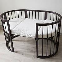 Кроватка-трансформер  7 в 1, цвет - орех